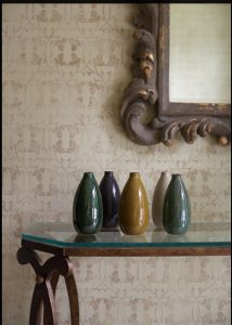 detail photo of multi-colored vases