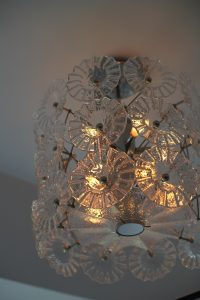 photo of artisan crafted overhead light fixture