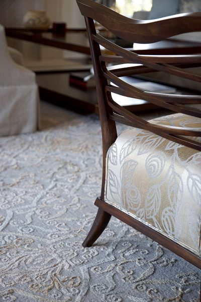 detail photo of dining room chair