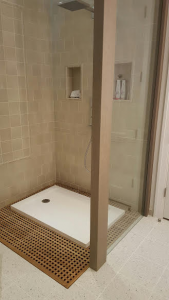 photo of stand alone shower