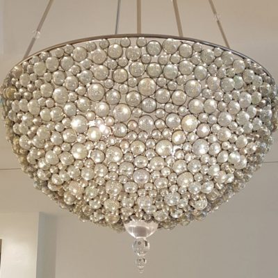 photo of glass bubble chandelier